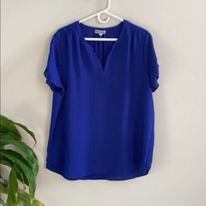 Pleione Pleated Back High Low Tunic